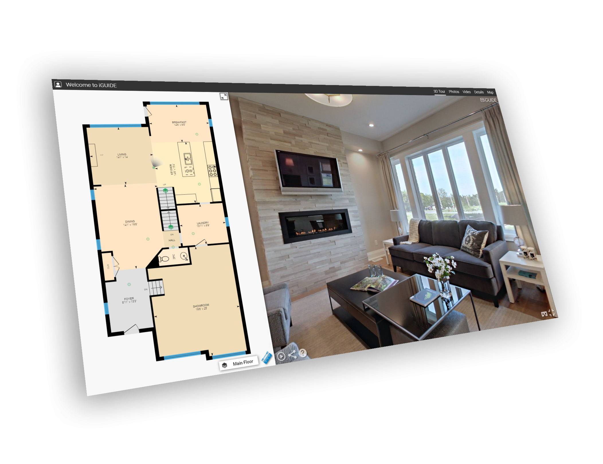 iGUIDE interface real estate Calgary Sona Visual